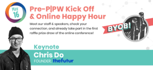 Pre-conference Kick Off and Online Happy Hour with a keynote by Chris Do