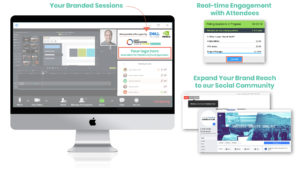 Examples of branded zoom session options