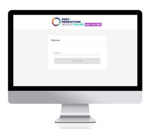 Screenshot of the event app login screen - Step 1