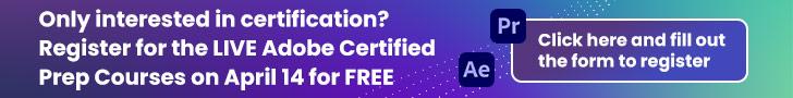 Adobe Certification form banner