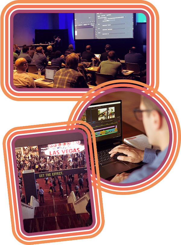 Vegas conference collage